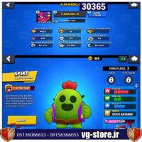 برول استارز لول 48 کد 30366/لجند اسپایک/همراه بازی های دیگر